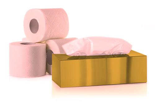 دستمال کاغذی سافتلن طلایی